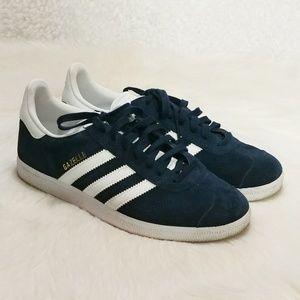 """Adidas Blue Suede """"Gazelle"""" Sneaker"""